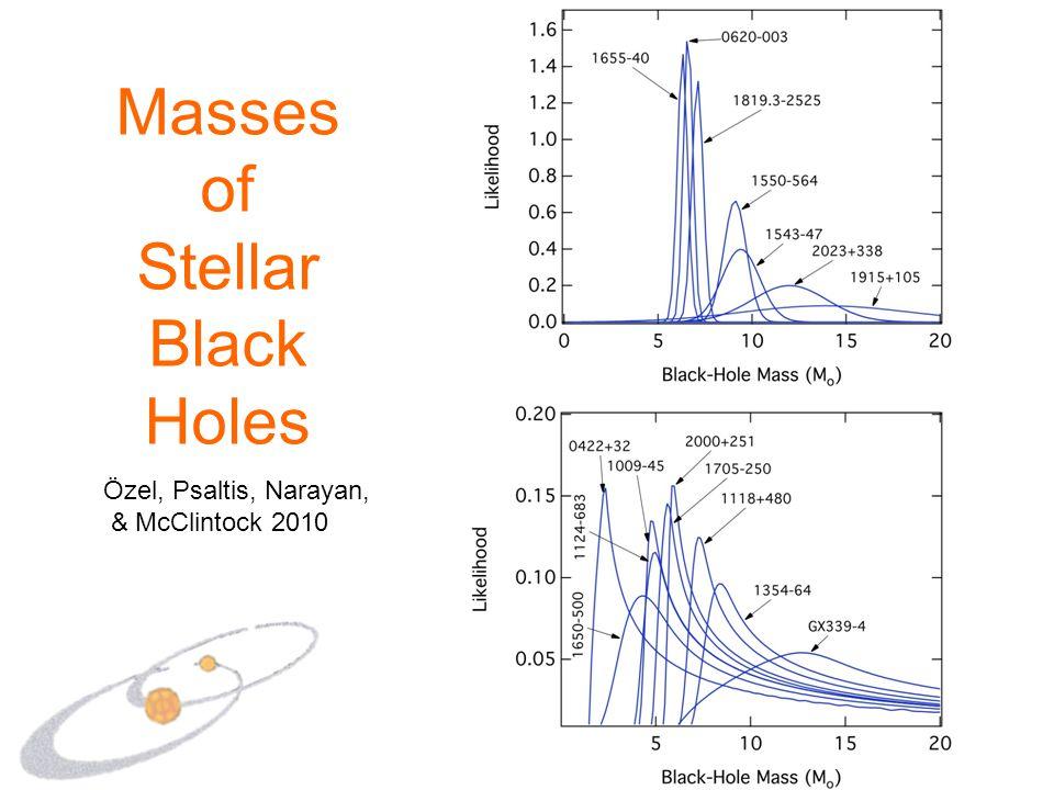 Masses of Stellar Black Holes Özel, Psaltis, Narayan, & McClintock 2010