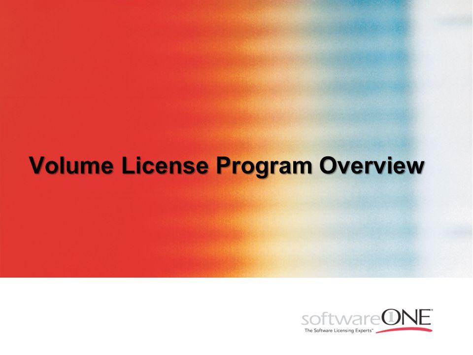 Volume License Program Overview