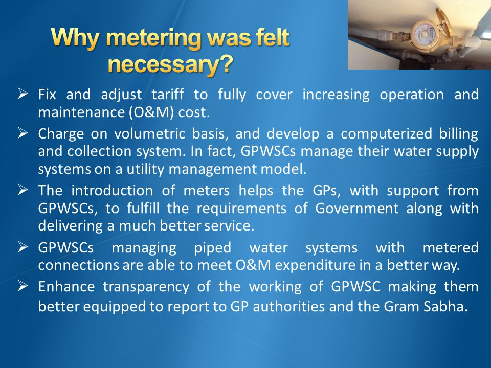  Fix and adjust tariff to fully cover increasing operation and maintenance (O&M) cost.