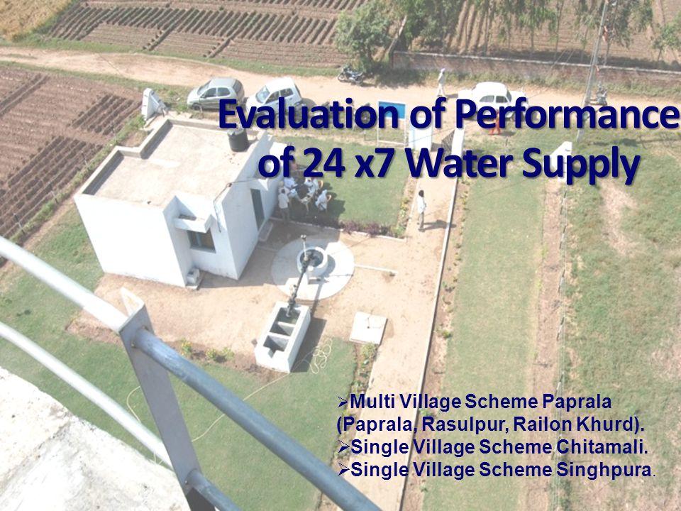 Evaluation of Performance of 24 x7 Water Supply  Multi Village Scheme Paprala (Paprala, Rasulpur, Railon Khurd).