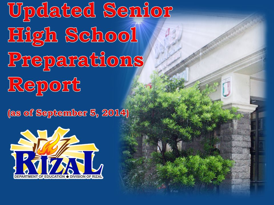 SHS Preparations – Division of Rizal