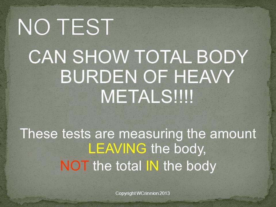 CAN SHOW TOTAL BODY BURDEN OF HEAVY METALS!!!.