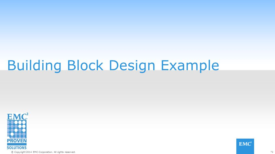 79© Copyright 2014 EMC Corporation. All rights reserved. Building Block Design Example
