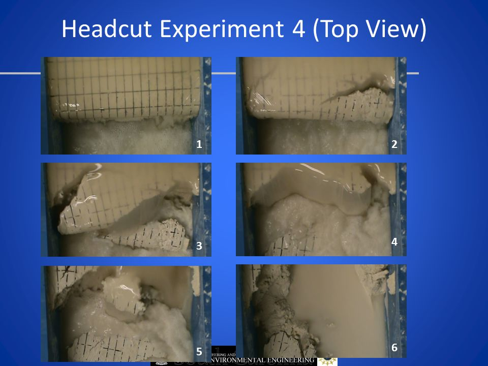 Headcut Experiment 4 (Top View) 12 3 4 5 6