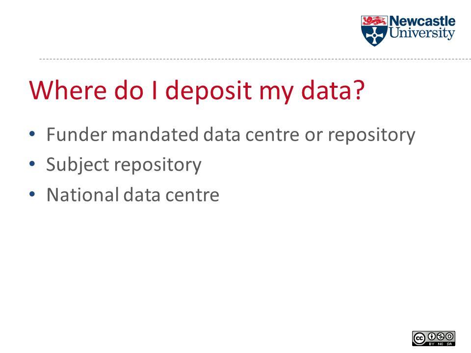 Where do I deposit my data.
