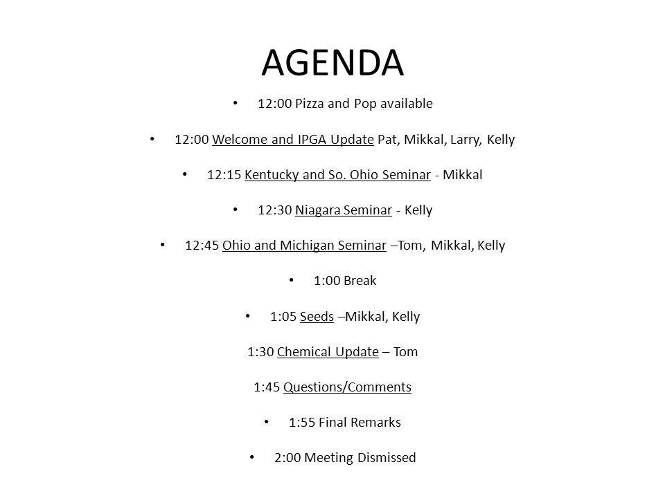 Current IPGA Directors President – Kelly Klinker '10 Vice President – Mikkal Hodge '10 Treasurer – Pat Hansen '00 Secretary – Larry Hodge '10 Site Coordinator – Vacant
