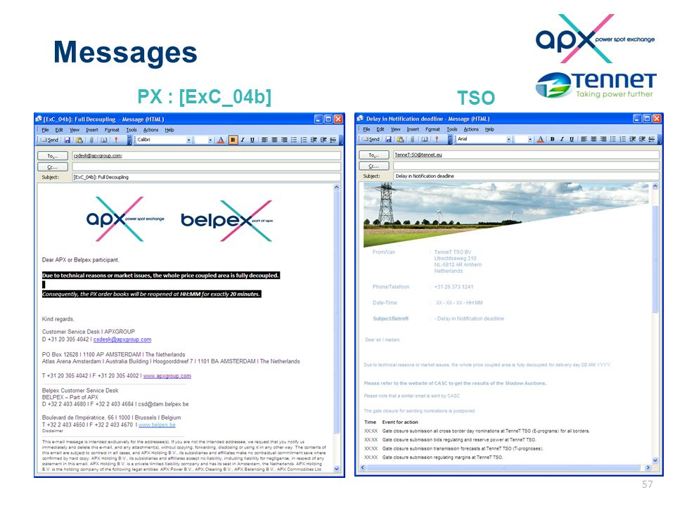 Messages PX : [ExC_04b] TSO 57