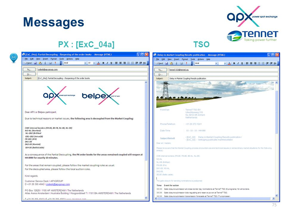Messages PX : [ExC_04a]TSO 75