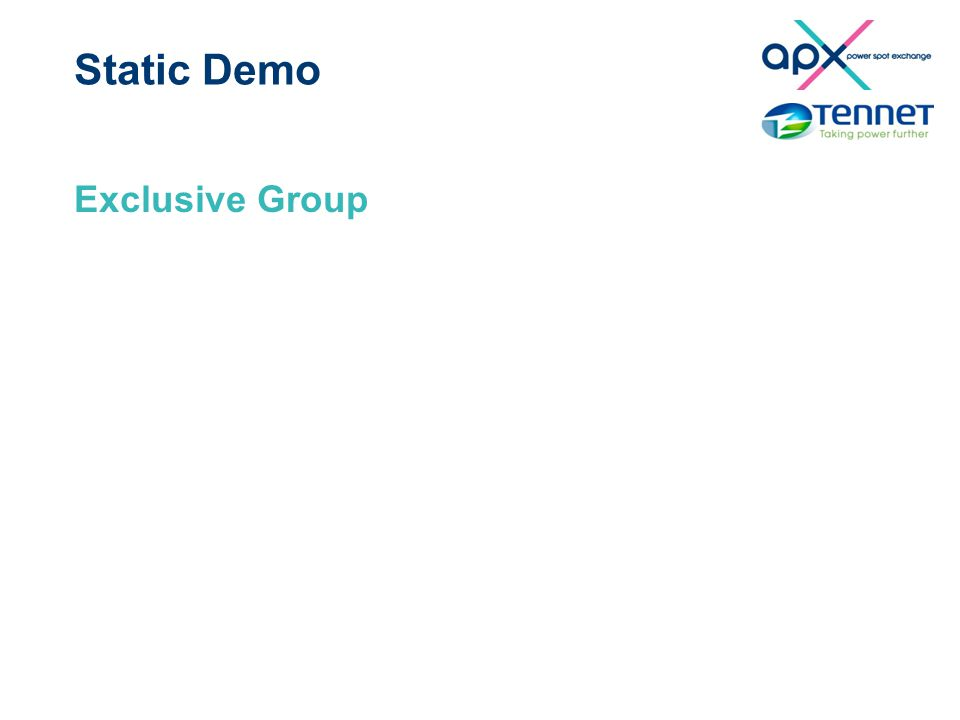 Static Demo Exclusive Group