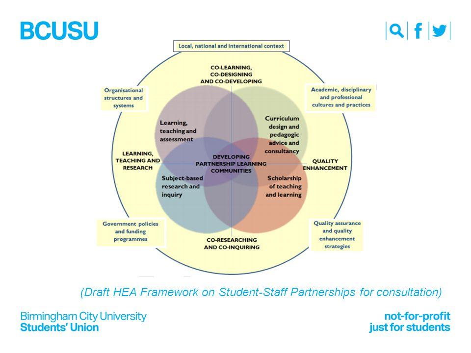 (Draft HEA Framework on Student-Staff Partnerships for consultation)