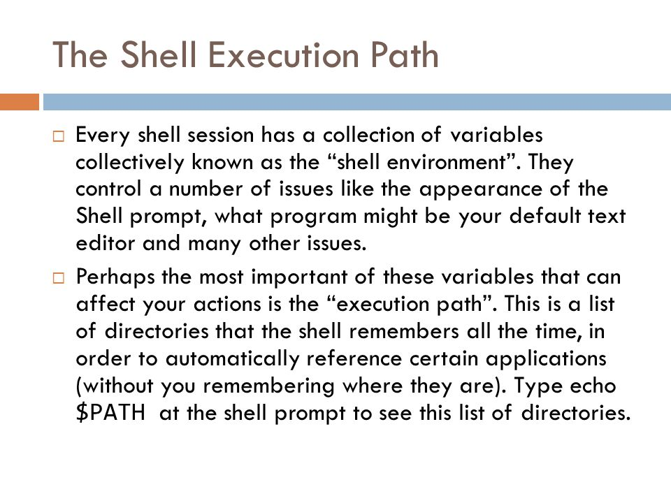 The Shell Prompt  When you login into a UNIX system, you will encounter the shell prompt.