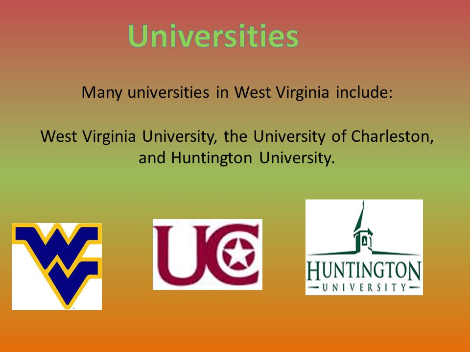 Major industries in West Virginia include mining (coal), livestock, chemical manufacturing, glass products, and tourism.