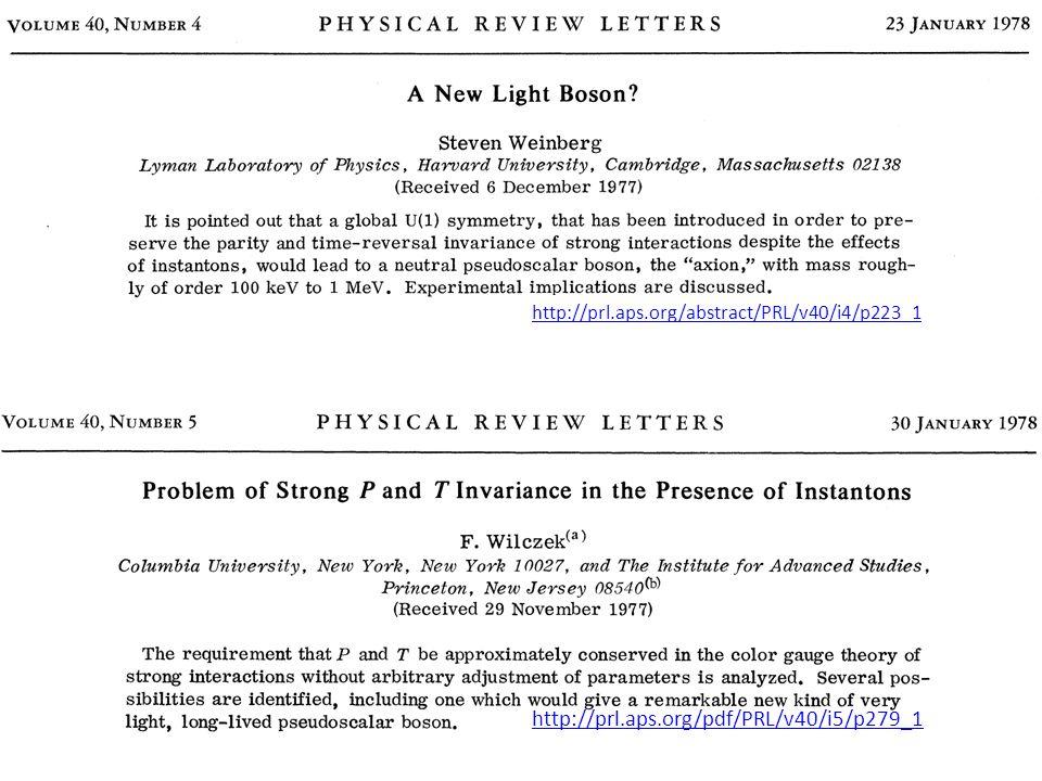 http://prl.aps.org/pdf/PRL/v40/i5/p279_1 http://prl.aps.org/abstract/PRL/v40/i4/p223_1