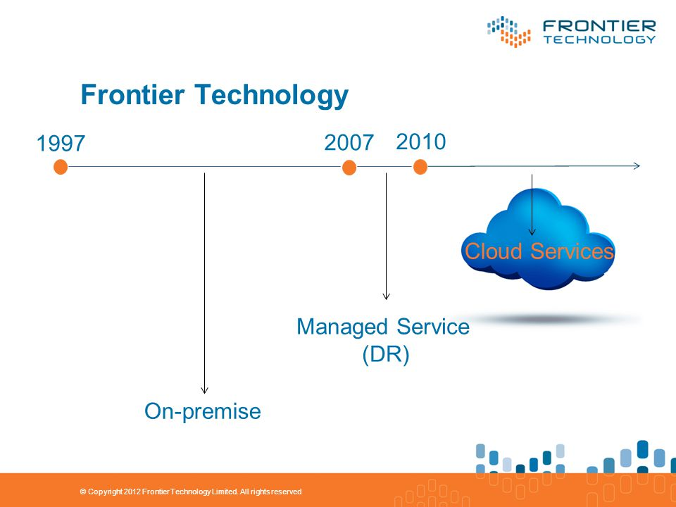 Frontier Technology © Copyright 2012 Frontier Technology Limited.