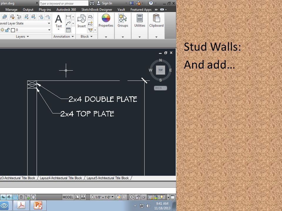 Stud Walls: And add…
