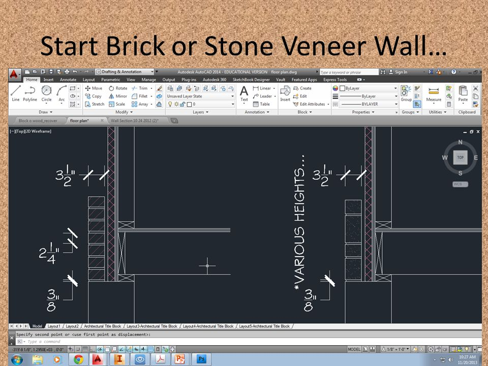 Start Brick or Stone Veneer Wall…