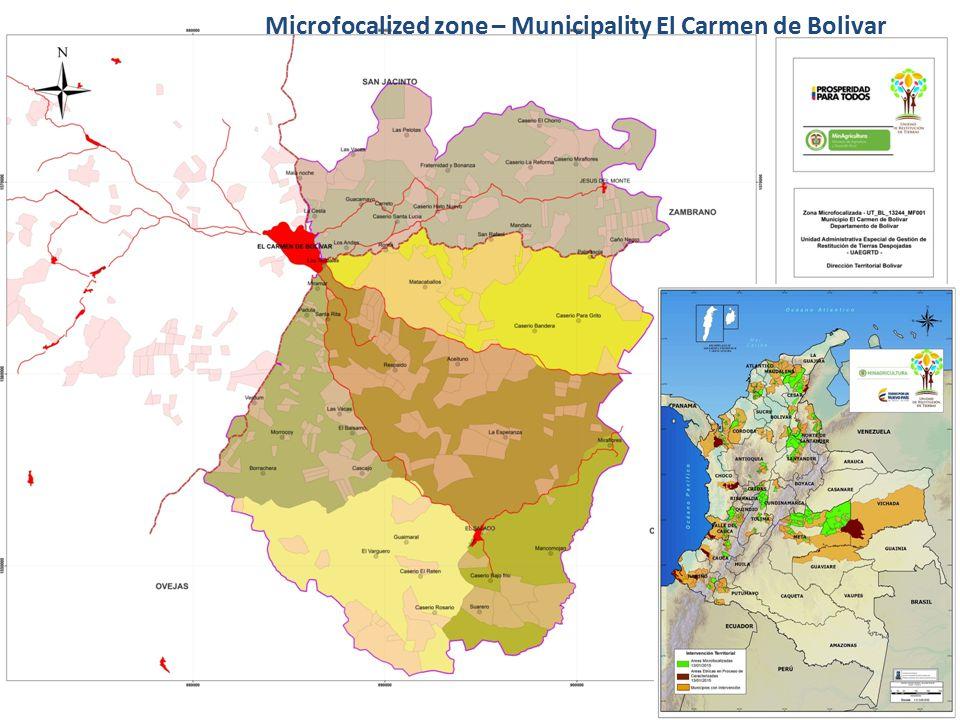 Microfocalized zone – Municipality El Carmen de Bolivar