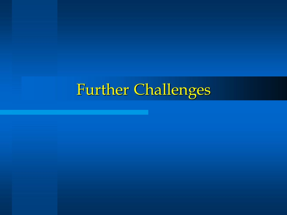 Further Challenges