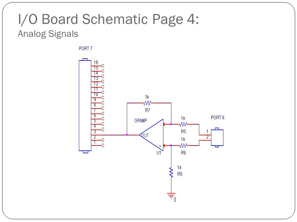 I/O Board Schematic Page 4: Analog Signals