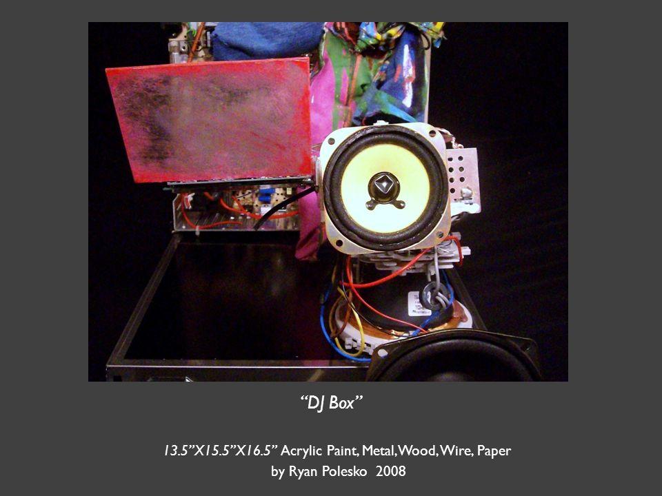 DJ Box 13.5 X15.5 X16.5 Acrylic Paint, Metal,Wood, Wire, Paper by Ryan Polesko 2008