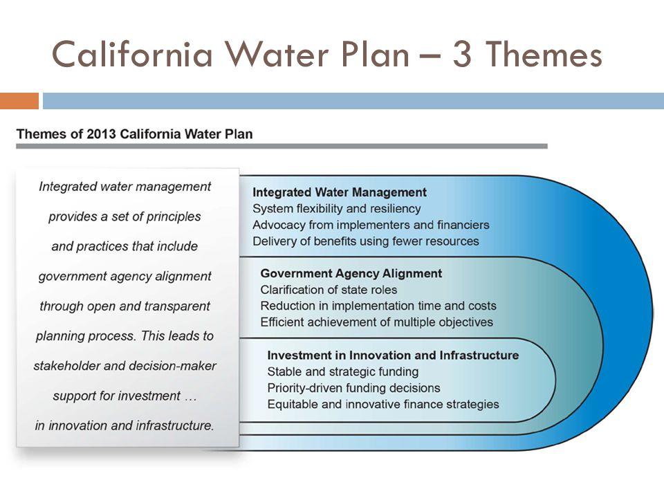 California Water Plan – 3 Themes