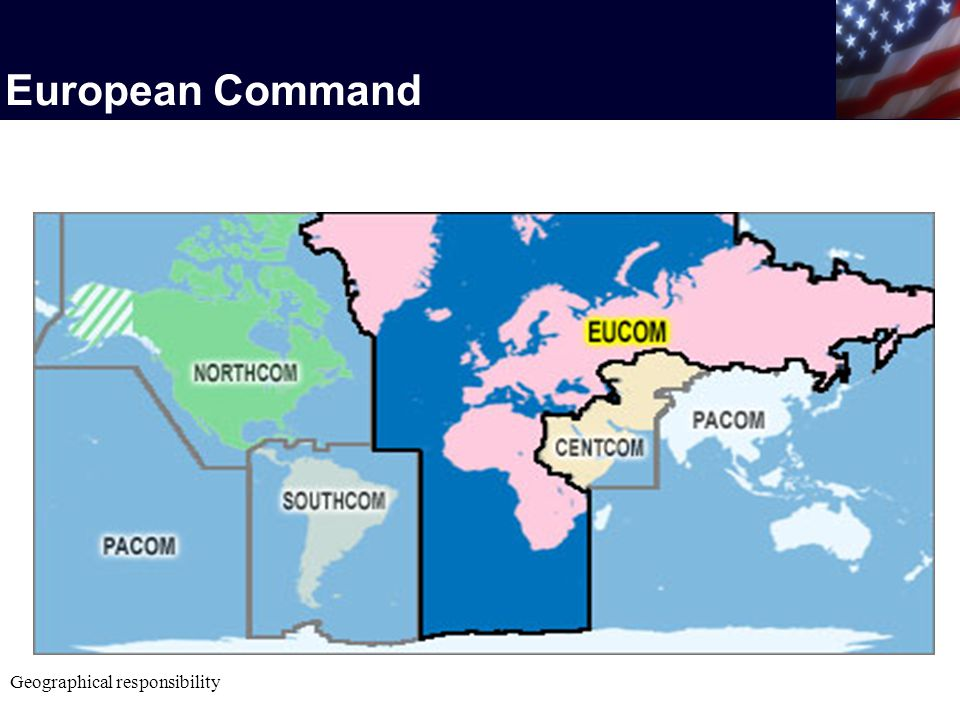 European Command Geographical responsibility