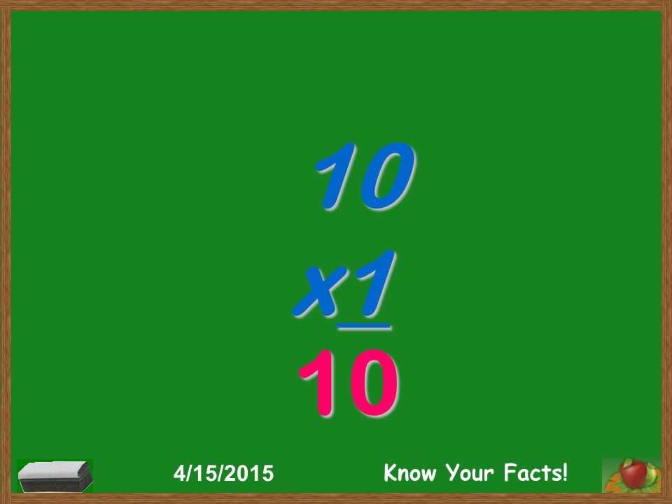 10 x1 10 4/15/2015 Know Your Facts!