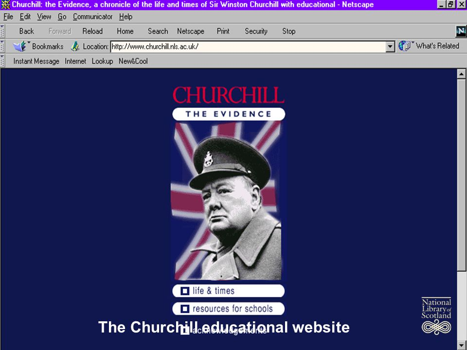 March 2002 The Churchill educational website