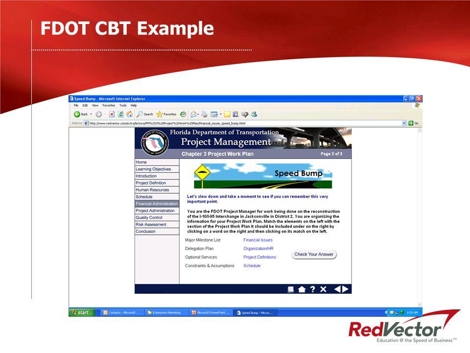 FDOT CBT Example