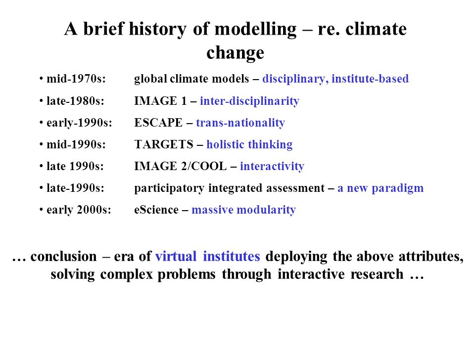 A brief history of modelling – re.