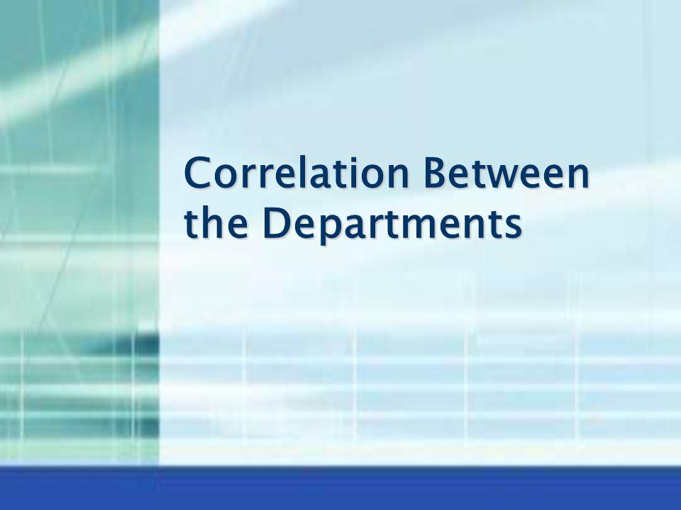 Correlation Between the Departments