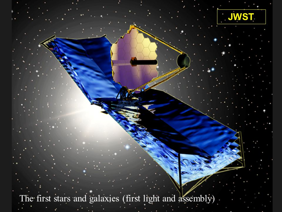 NGST (James Webb Space Telescope) JWST The first stars and galaxies (first light and assembly)