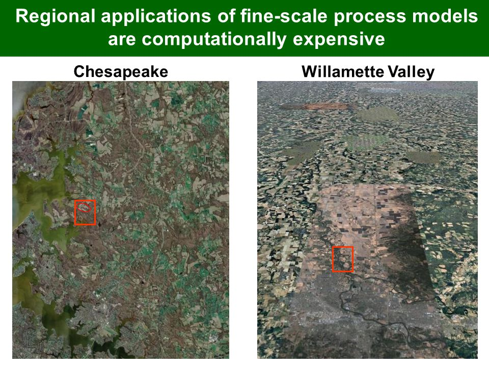 Chesapeake Willamette Valley Regional applications of fine-scale process models are computationally expensive