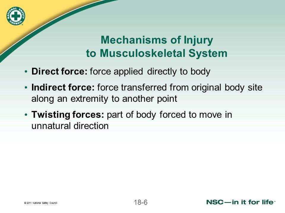 © 2011 National Safety Council 18-37 2.Position triangular bandage