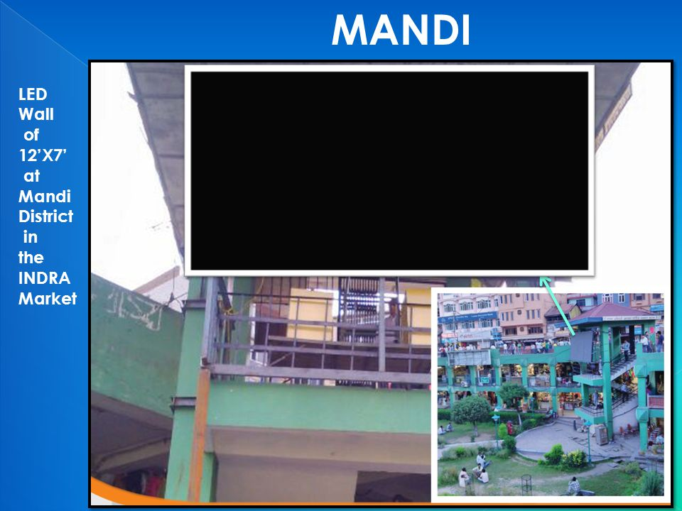 MANDI LED Wall of 12'X7' at Mandi District in the INDRA Market