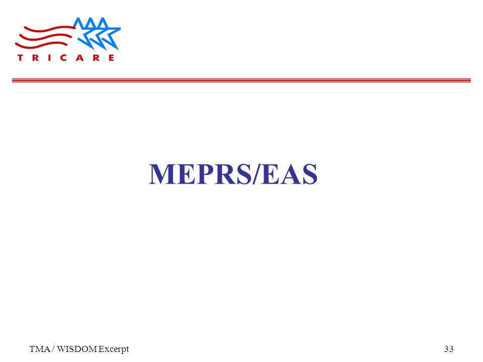 TMA / WISDOM Excerpt33 MEPRS/EAS