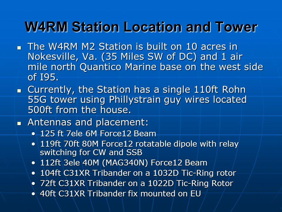 2004 -2005 Contest Operating Plans The W4RM Contest Team plans to operate the following contests this contest season: The W4RM Contest Team plans to operate the following contests this contest season: CQWW SSB (M2)CQWW SSB (M2) ARRL CW SS (Multi-op)ARRL CW SS (Multi-op) ARRL SSB SS (SOHP W4NF)ARRL SSB SS (SOHP W4NF) ARRL DX 160M (SO or Multi?)ARRL DX 160M (SO or Multi?) ARRL 10M (Limited effort)ARRL 10M (Limited effort) ARRL RTTY RU (Multi)ARRL RTTY RU (Multi) ARRL DX CW (M2)ARRL DX CW (M2) ARRL DX SSB (from the Islands, VP2V?)ARRL DX SSB (from the Islands, VP2V?) WPX SSB (WM4RM) M2WPX SSB (WM4RM) M2