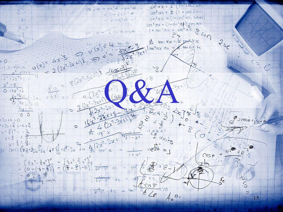15 Q&A