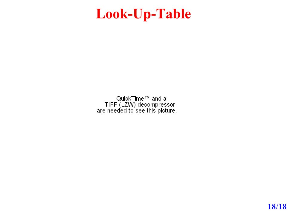 Look-Up-Table 18/18