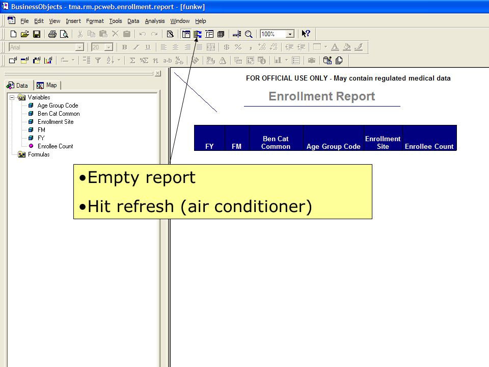 15 Empty report Hit refresh (air conditioner)