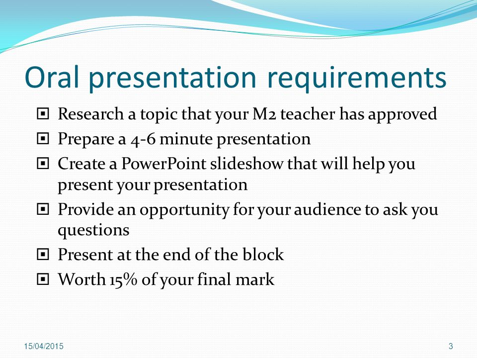 What must I include in the Powerpoint presentation.