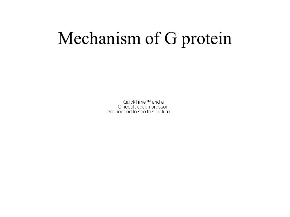 Mechanism of G protein