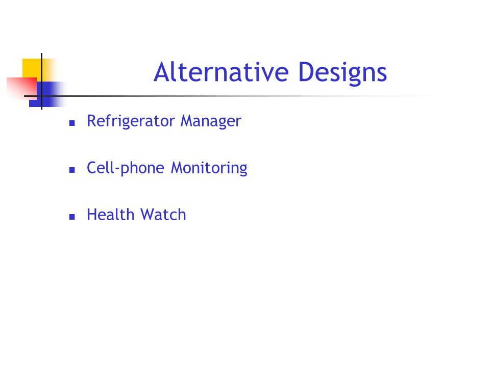 Alternative Designs Refrigerator Manager Cell-phone Monitoring Health Watch