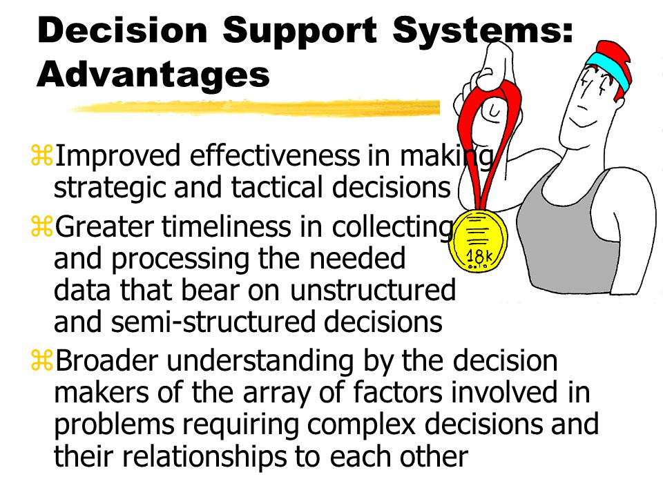 Key Components of a Decision Support System DSS data baseDSS model base DSS user interface Terminal or microcomputer User Figure M2-1