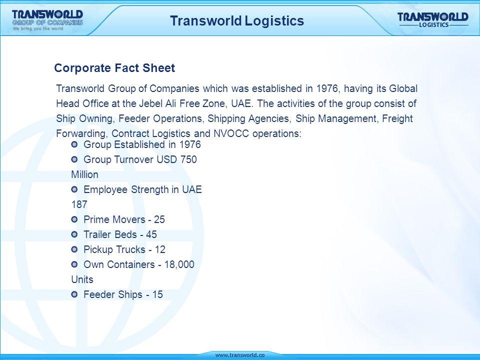 Transworld Logistics Container Feeder Service Orient Express Lines FZCO, U.A.E.