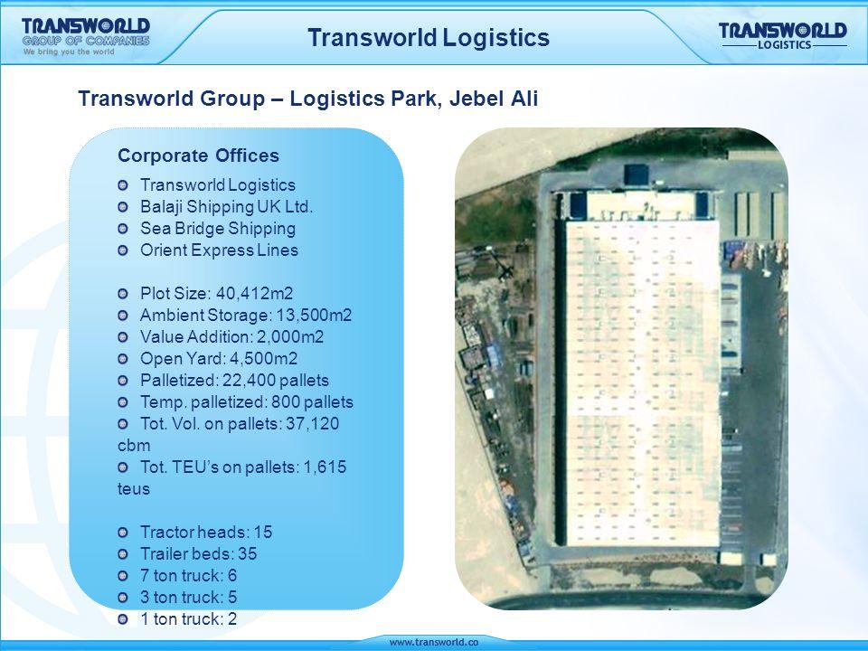 Transworld Logistics Plot Size 106,000m2 Phase 1 Plot Size 106,000m2 Phase 2 Plot Size: 53,000m2 Ambient temp.