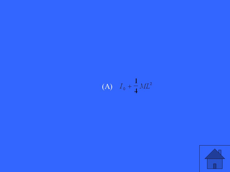 A uniform stick has length L. The moment of inertia about the center of the stick is I o. A particle of mass M is attached to one end of the stick. Th