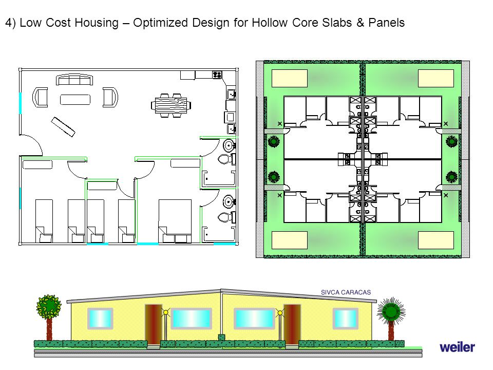 4) Low Cost Housing – Optimized Design for Hollow Core Slabs & Panels