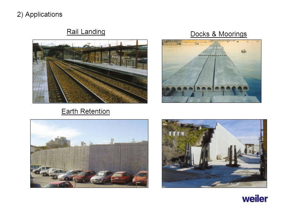 2) Applications Docks & Moorings Rail Landing Earth Retention