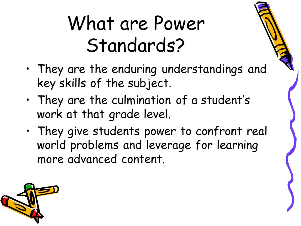 More about the M2 Power Standards The M2 power standards organize the content expectations to help teachers focus on what s really important.